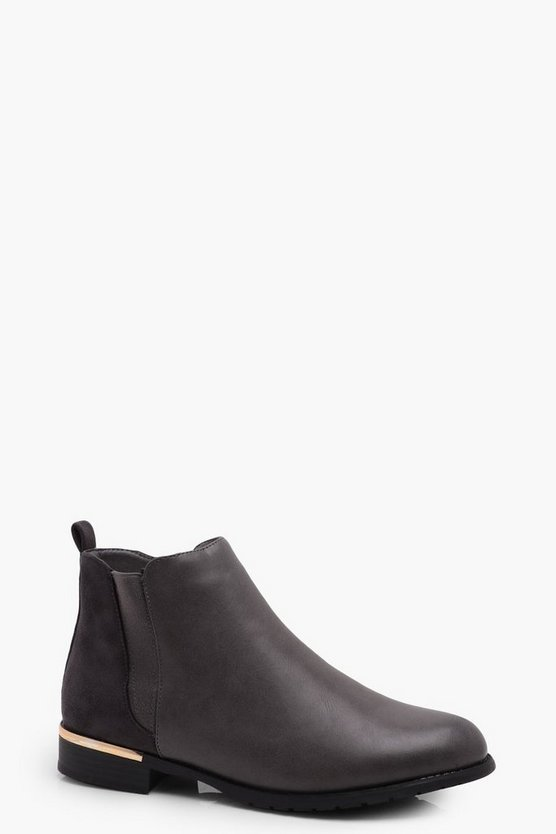 Sophie Metal Trim Chelsea Boot