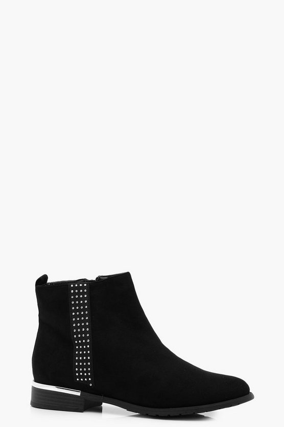 Emily Diamante Trim Chelsea Boot