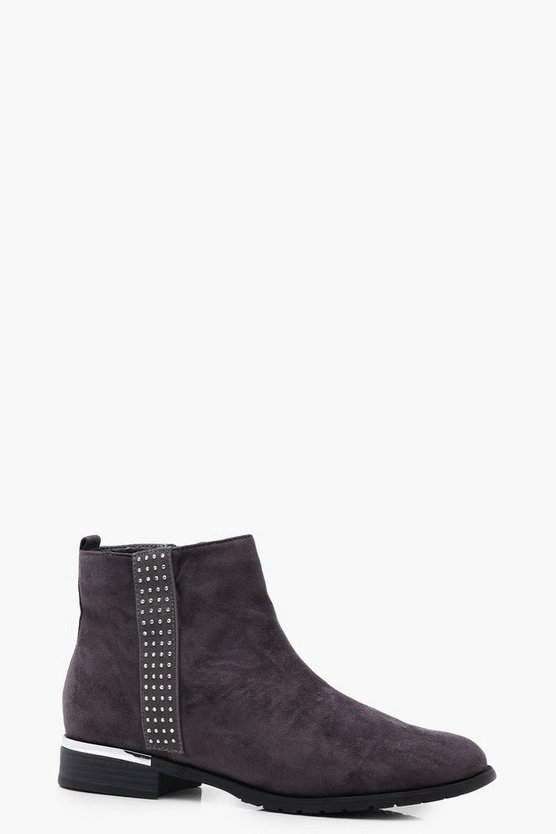 Jessica Diamante Trim Chelsea Boot