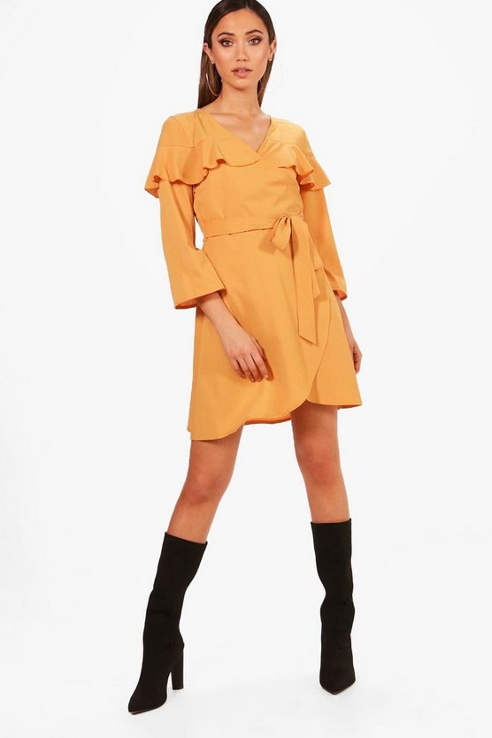 Dominique Angel Sleeve Woven Tea Dress