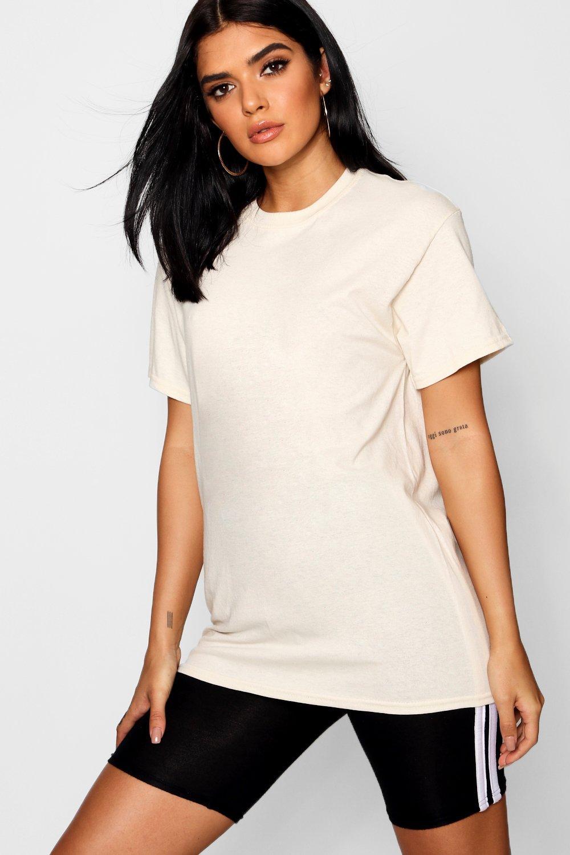 Womens Übergroßes Basic-T-Shirt - stone - S, Stone - Boohoo.com