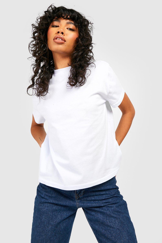 Womens Übergroßes Basic-T-Shirt - Weiß - S, Weiß - Boohoo.com