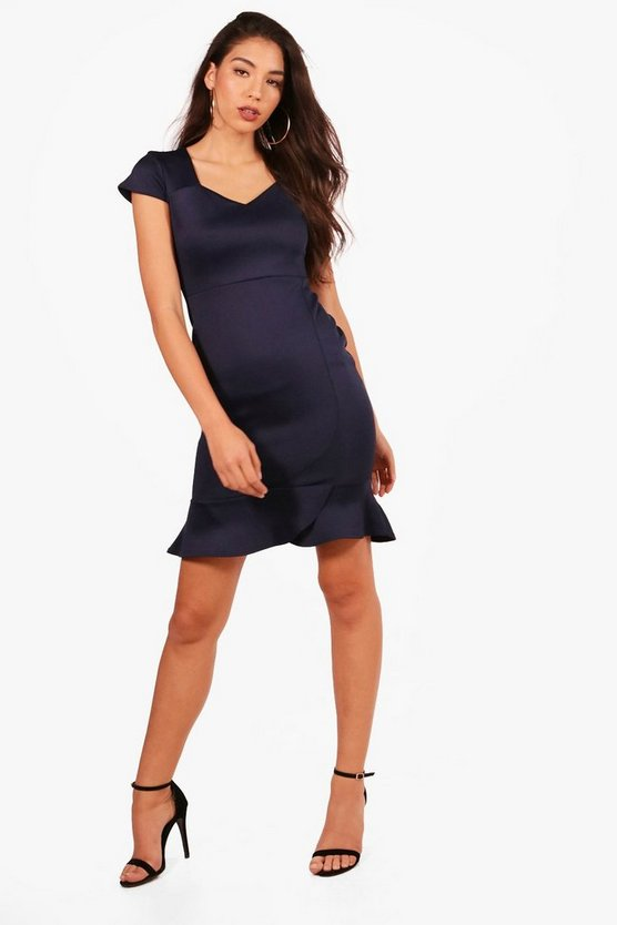 Megan Frill Hem Midi Dress