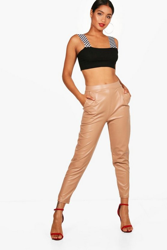 Bethany PU Pocket Slim Leg Trouser