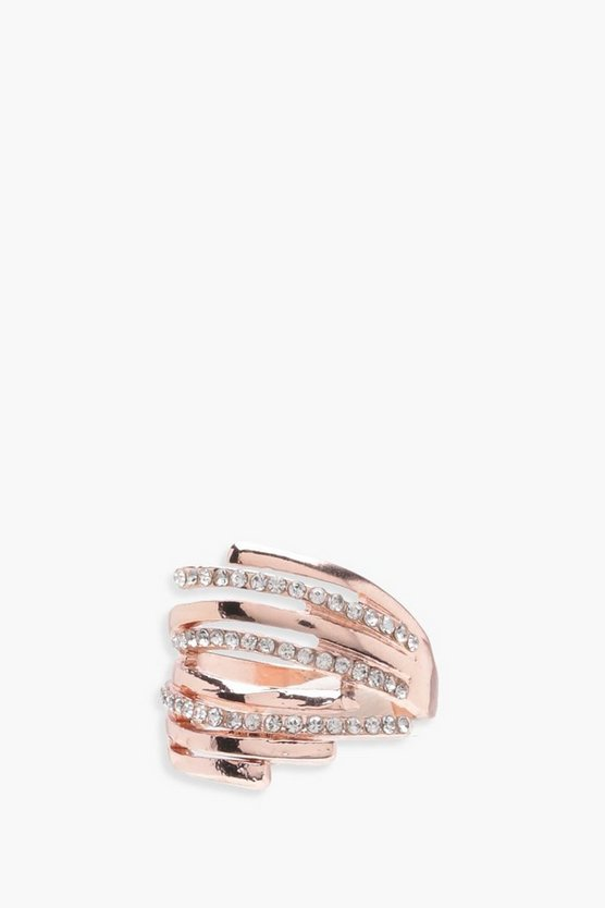 Poppy Diamante Multi Layer Rings