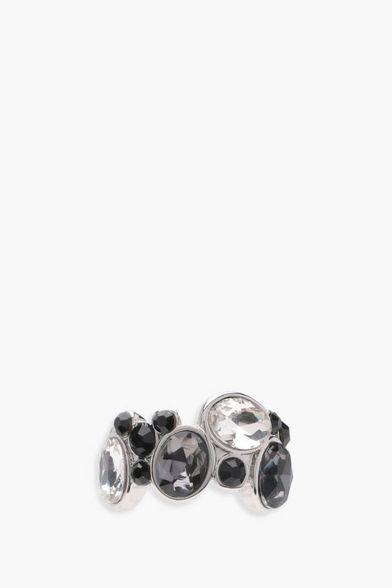 Katie Monochrome Gem Statement Ring