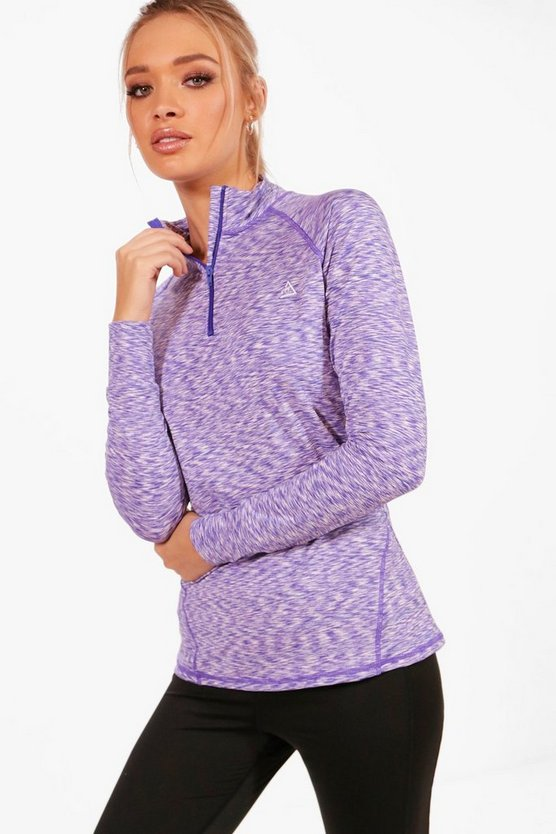 Taylor Fit Spacedye Half Zip Gym Top