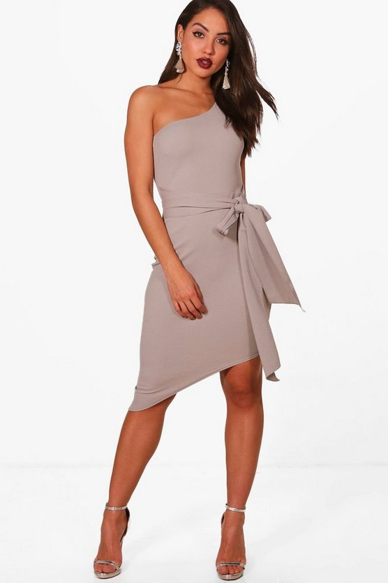 Bekki One shoulder Asymmetric Bodycon Dress