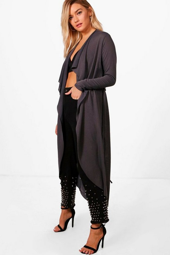 Waterfall Belted Midi Cardigan
