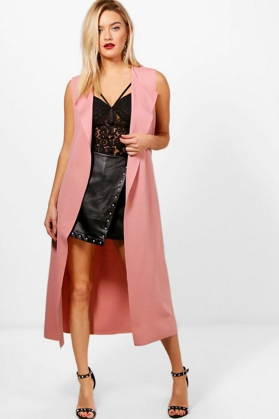 Jasmine Waterfall Sleeveless Duster