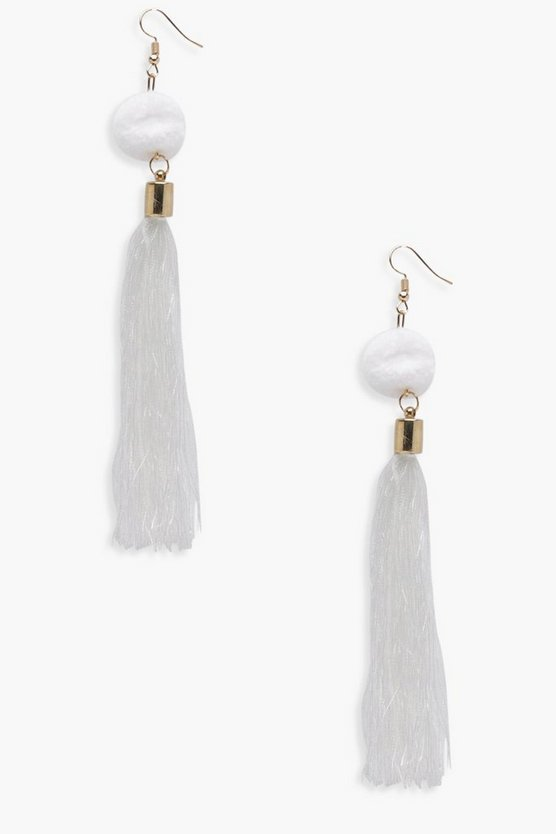 Moira Pom Pom Tassel Earrings