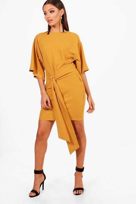 Tess Tie Waist Kimono Sleeve Shift Dress