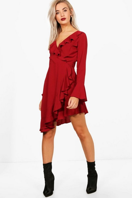 Charlotte Ruffle Detail Woven Tea Dress