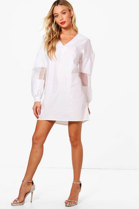 Tanya Balloon Sleeve Detail Shift Dress