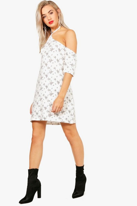 Lily Cold Shoulder Strappy Shift Dress