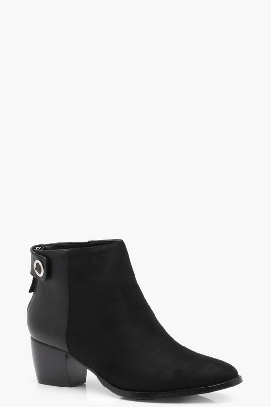 Alison Block Heel Pointed Chelsea Boot
