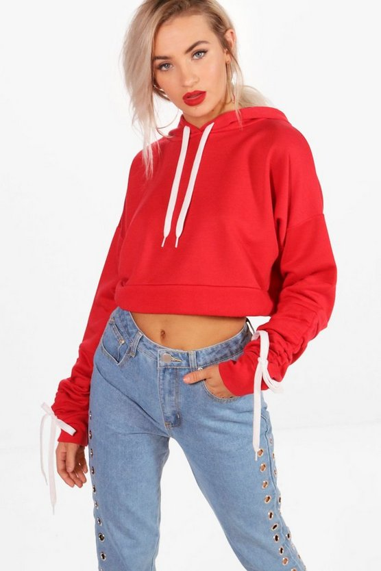 Emma Ruched Sleeve Hoody