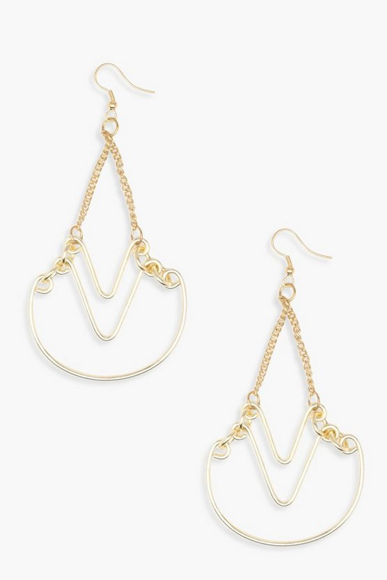 Elizabeth Geo Layered Earrings