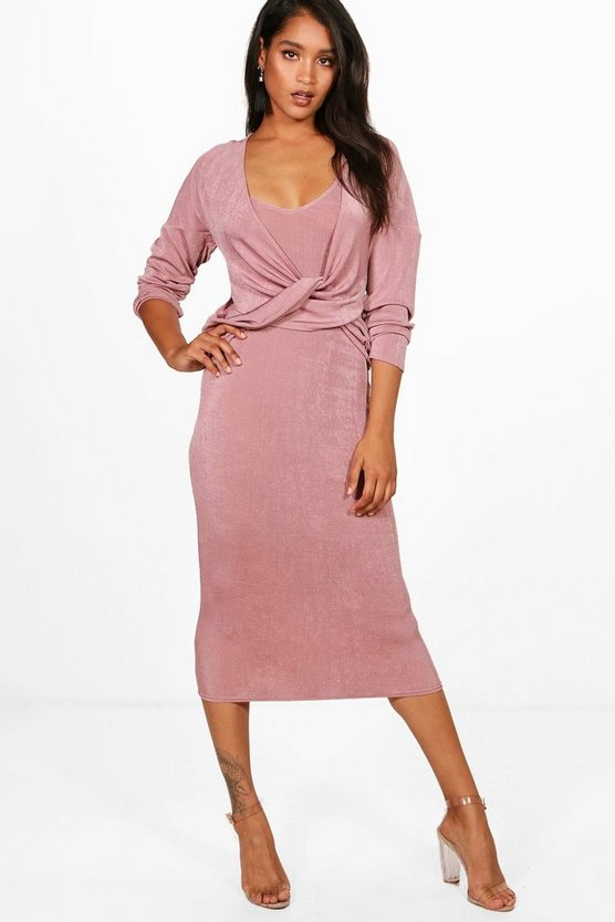 Amie Knitted Slinky Knot Jumper & Dress
