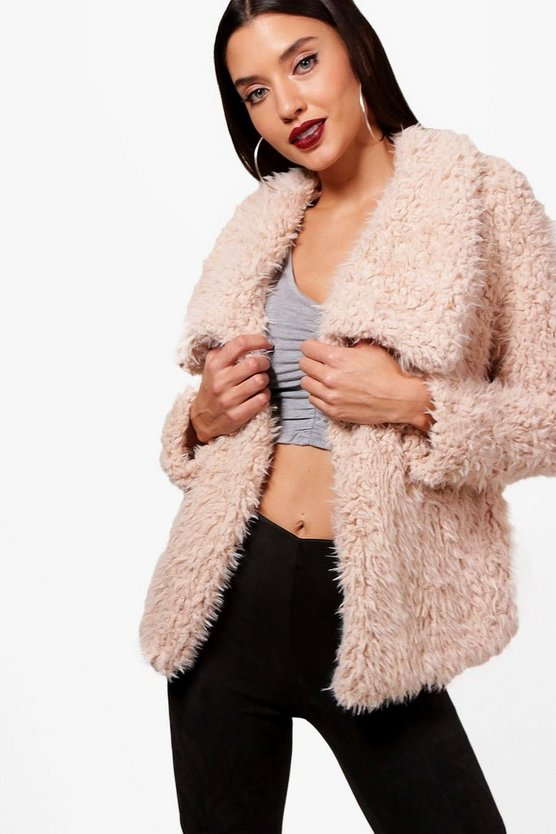 Heidi Wrap Faux Fur Coat