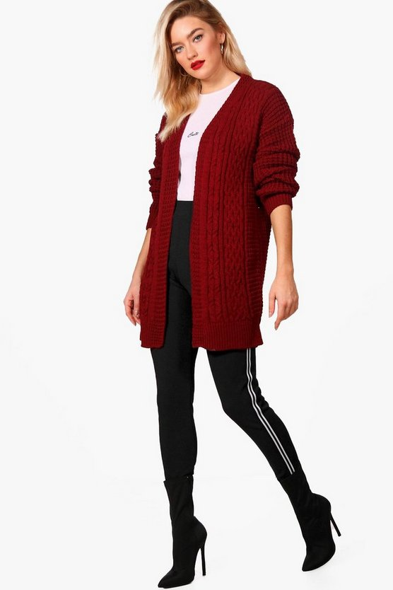 Emily Cable Knit Cardigan