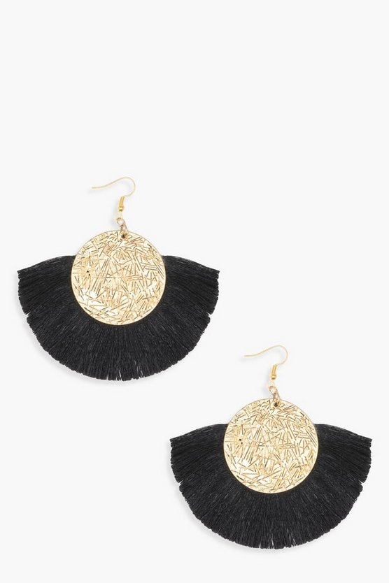 Ressa Coin Tassel Earrings
