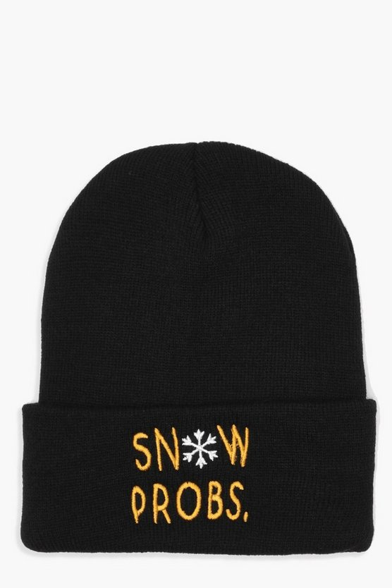 Fran Christmas Snow Probs Slogan Beanie
