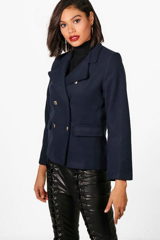 Millie Military Wool Look Coat
