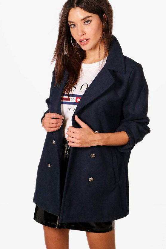 Verity Military Wool Look Coat
