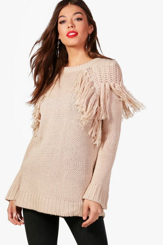 Charlie Tassle Shoulder Detail Jumper