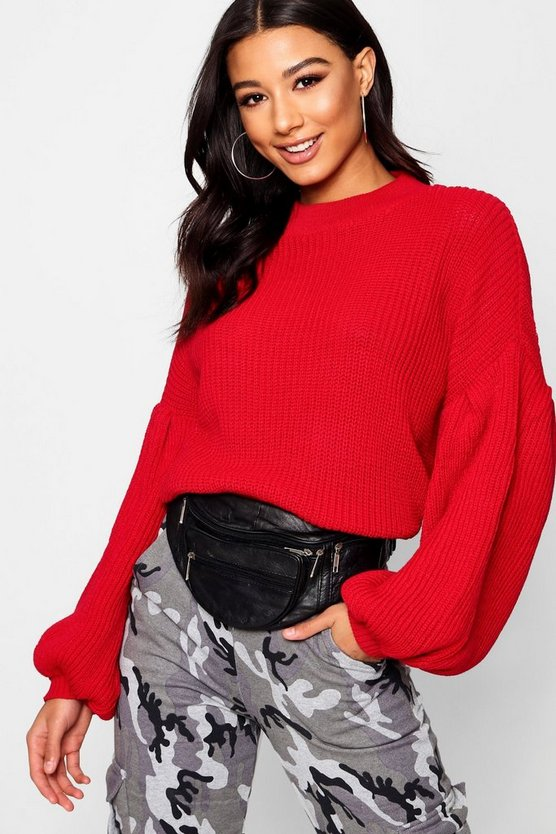 Annie Balloon Sleeve Oversized Jumper