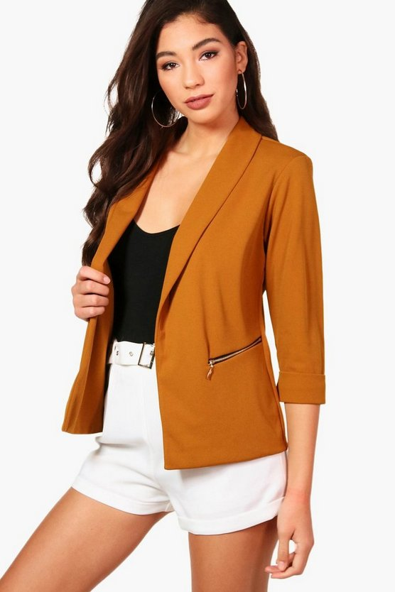 Sarah Zip Pocket Blazer