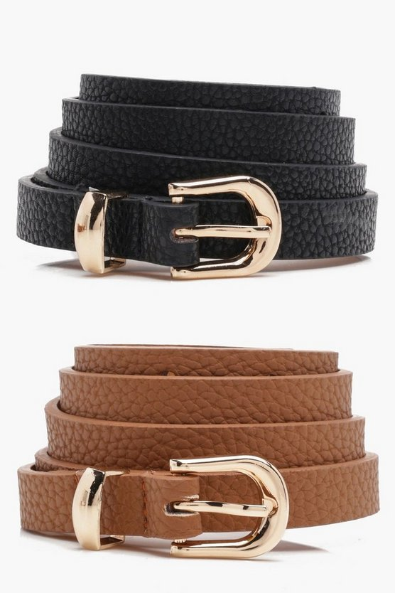Alice Skinny Belts 2 Pack