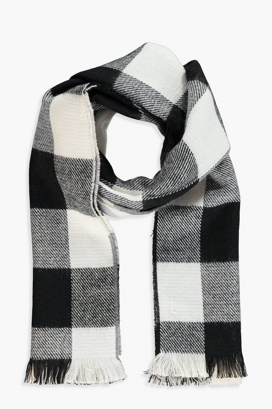 Lily Reversible Woven Check Scarf