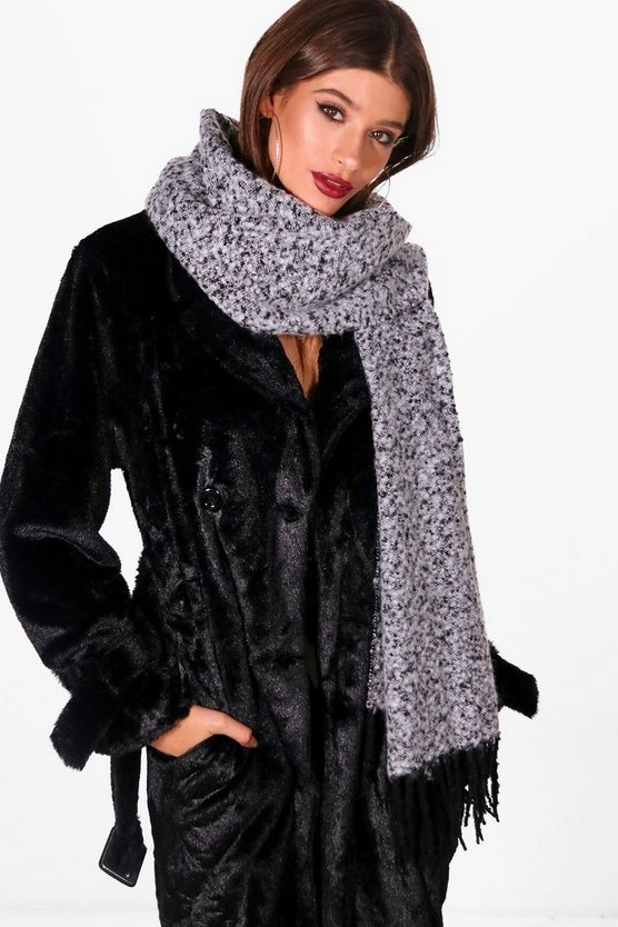 Anna Boucle Soft Touch Woven Scarf