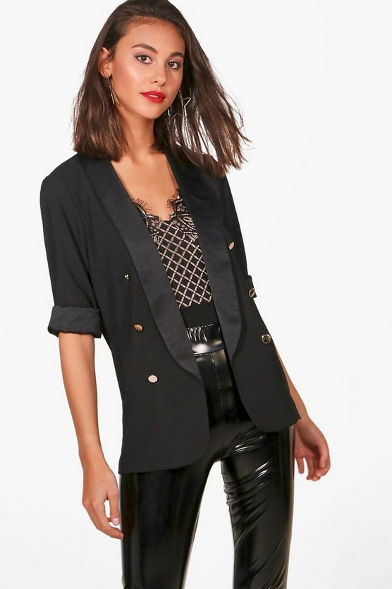 Becky Button Detail Tux Blazer