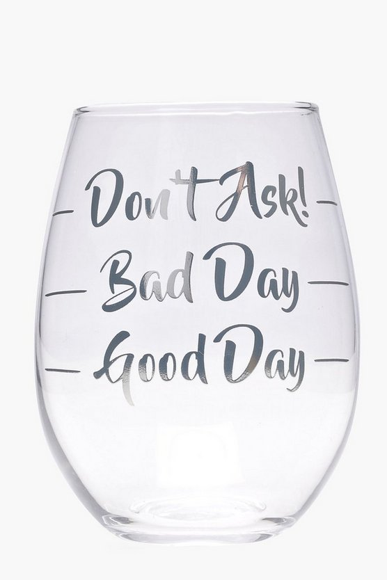 Bad Day Stemless Wine Glass