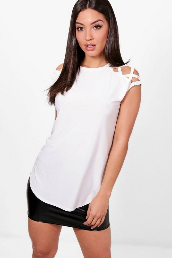 Mia Slinky Strappy Shoulder T-Shirt