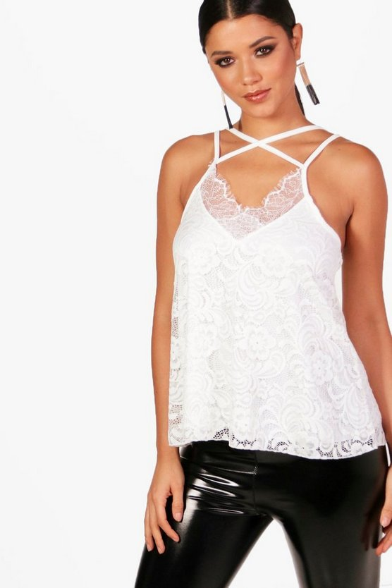 Jasmin All Over Lace Strappy Cami