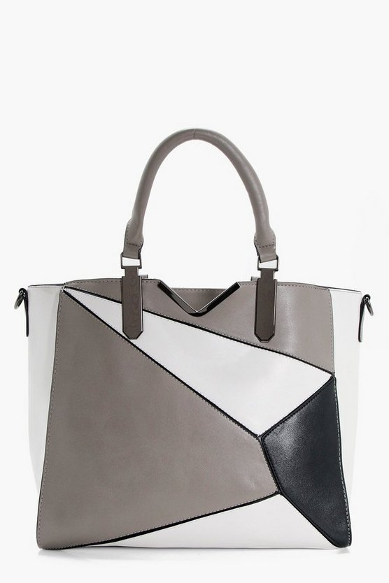 Nancy Panelled Structured Day Bag