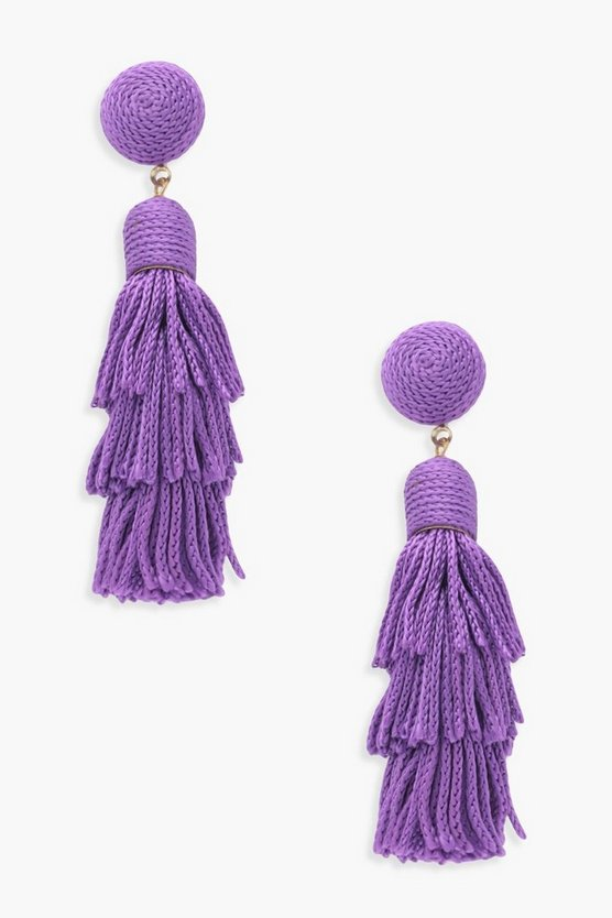 Melissa Ball Layered Tassel Earrings