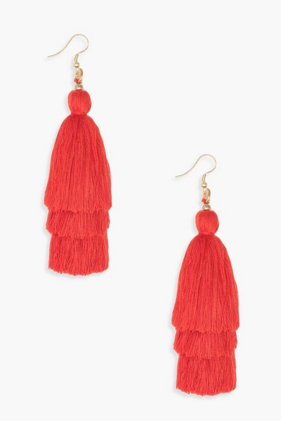 Megan Statement Tassel Earrings