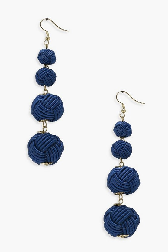 Freya Knotted Ball Earrings