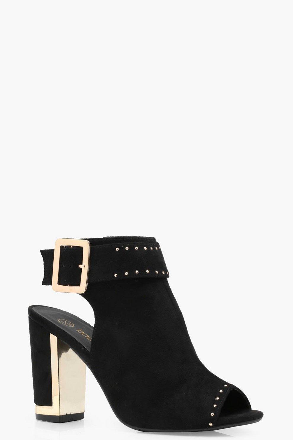 Olivia Plaited & Studded Shoe Boots JKoxtD