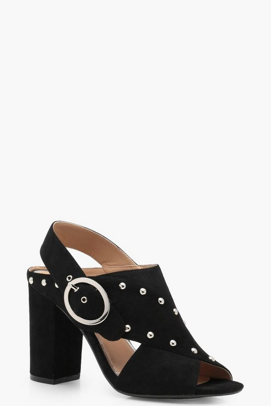 Sophie Wide Fit Studded Cross Strap Sandals