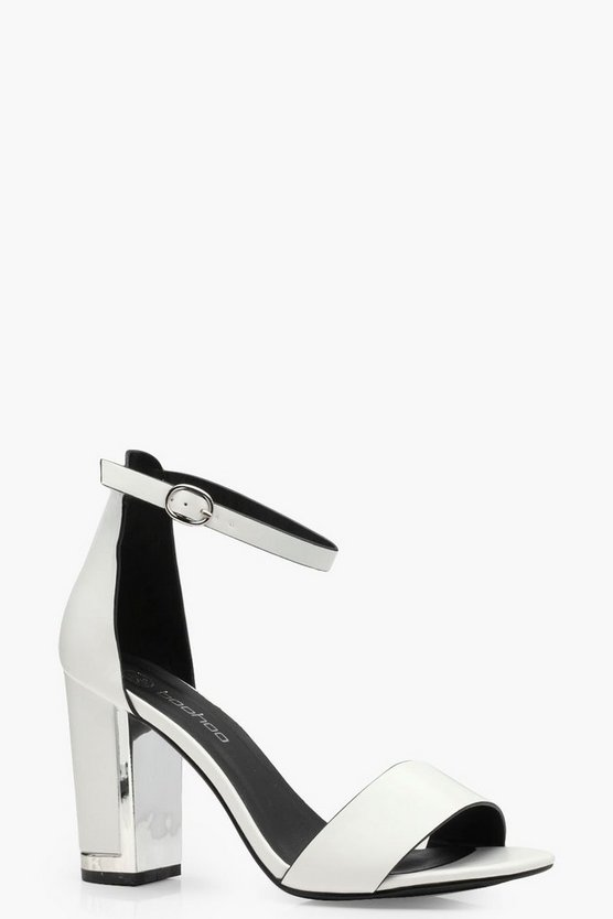 Ella Wide Fit Plated Block 2 Part Heels
