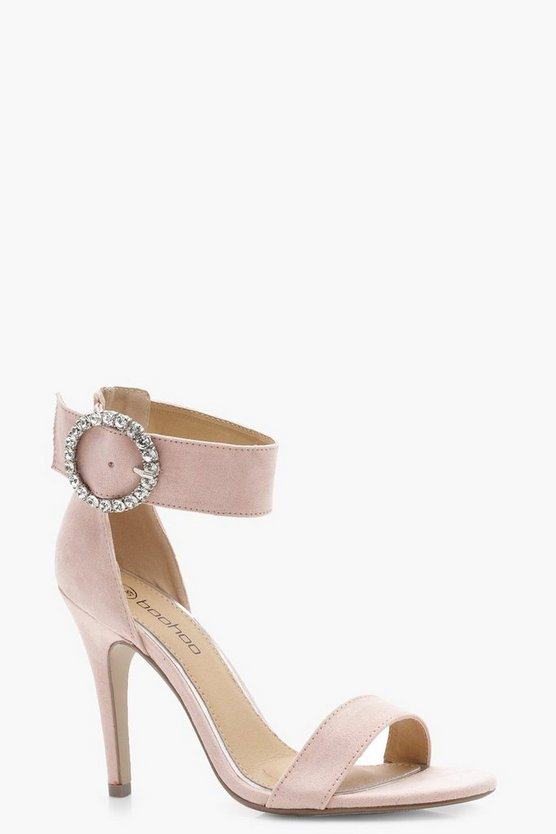 Lucy Wide Fit Diamante Buckle 2 Part Heels