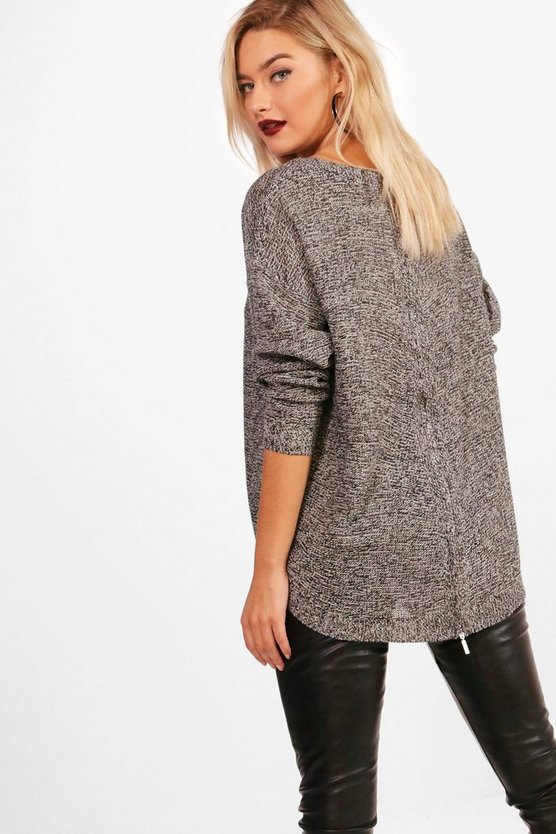 Freya Zip Back Marl Jumper