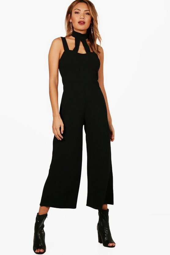 Lucille Choker High Neck Culotte Jumpsuit