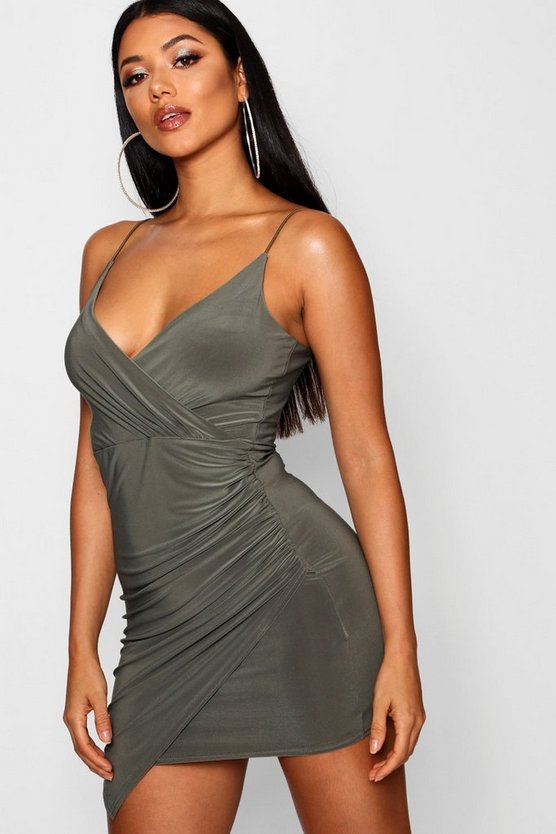 Brandy Wrap Detail Bodycon Dress